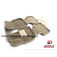 Текстильные 3D Коврики Euromat3D Business В Салон Для BMW X3 (G01) (2017-) № EMC3D-001222T Бежевые
