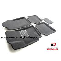 Текстильные 3D Коврики Euromat3D Business В Салон Для Hyundai Solaris (2017-) № EMC3D-002931G Серые