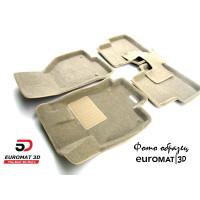 Текстильные 3D коврики Euromat3D Business в салон для BMW 7 (G11) (2015-) № EMC3D-001217T Бежевые