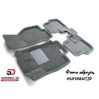 Текстильные 3D коврики Euromat3D Business в салон для VOLKSWAGEN Jetta (2010-) № EMC3D-005414G Серые