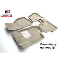 Текстильные 3D коврики Euromat в салон для CADILLAC SRX (2003-2009) № EM3D-001303T Бежевый