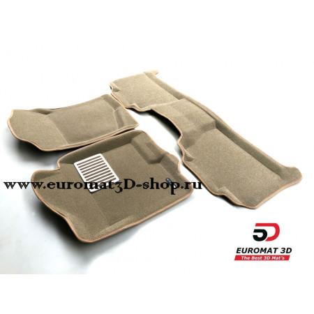 Текстильные 3D коврики Euromat в салон для CADILLAC Escalade (2007-2014) № EM3D-001302T Бежевый