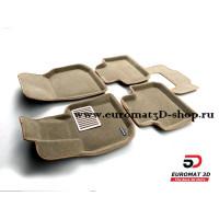 Текстильные 3D Коврики Euromat В Салон Для BMW X4 (G02) (2018-) № EM3D-001222T Бежевые