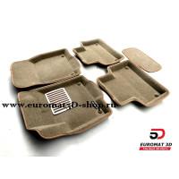 Текстильные 3D Коврики Euromat В Салон Для LAND ROVER Range Rover Evoque (2011-) № EM3D-003103T Бежевые