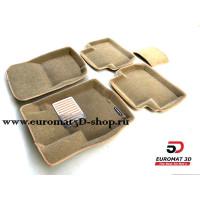 Текстильные 3D Коврики Euromat В Салон Для Citroen C-Crosser № EM3D-003609T Бежевые