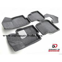 Текстильные 3D коврики Euromat в салон для VOLKSWAGEN Jetta (2010-) № EM3D-005414G Серые