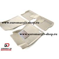 Текстильные 3D коврики Euromat в салон для CADILLAC CTS (2007-) (2WD) № EM3D-001301T Бежевый